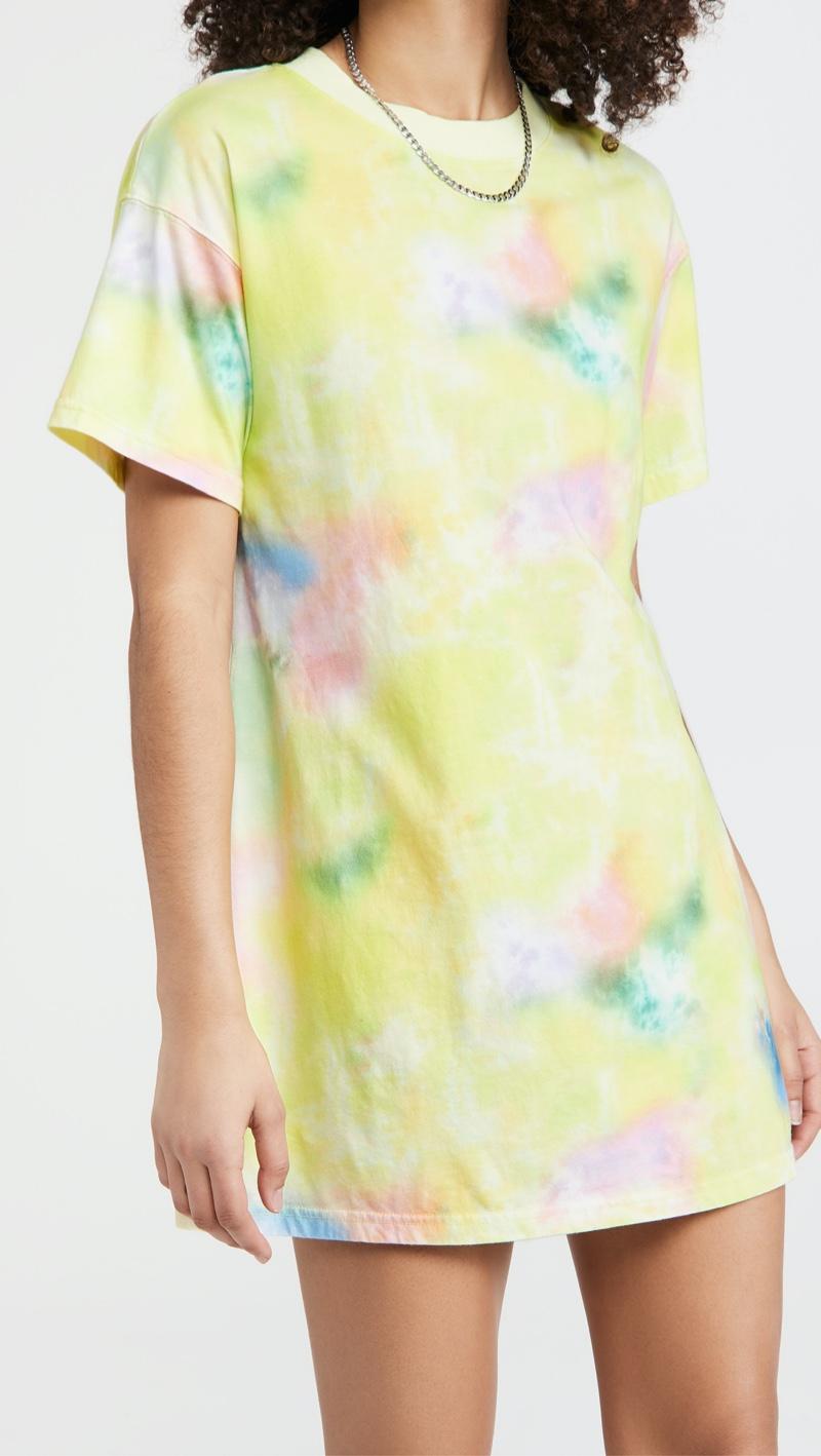 alice + olivia Garner Boxy T-Shirt Dress in Tie Dye $195