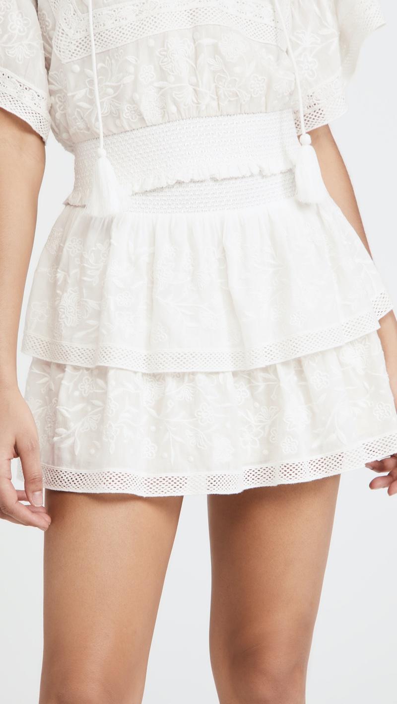 alice + olivia Jojo Ruffle Miniskirt $295