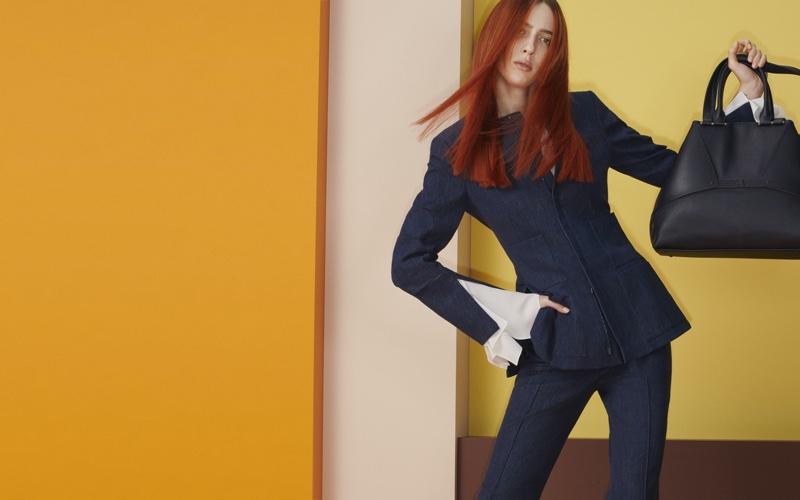 Teddy Quinlivan Strikes a Pose for Akris Spring 2020 Campaign
