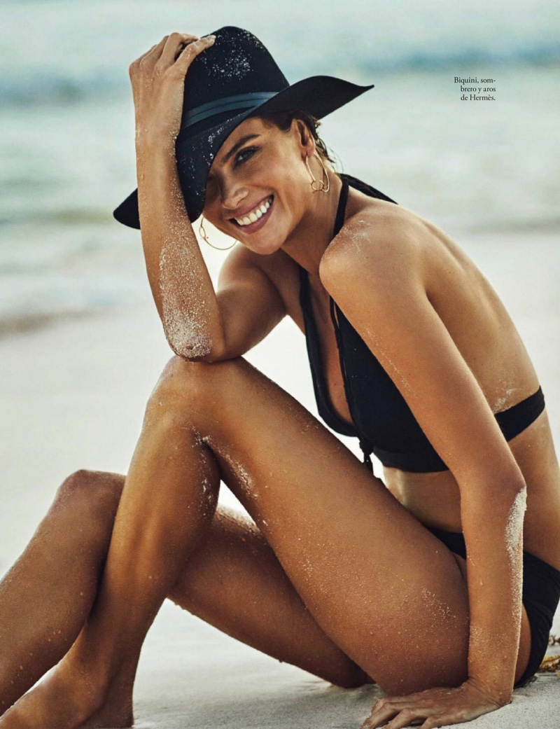 Alessandra Ambrosio Hits the Beach for ELLE Spain