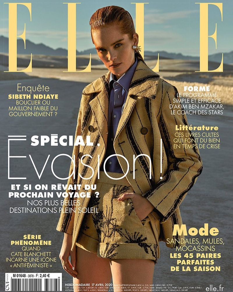Alexina Graham Embraces Desert Style for ELLE France