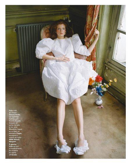 Anastasia Ivanova Models Bridal Fashion for Marie Claire France