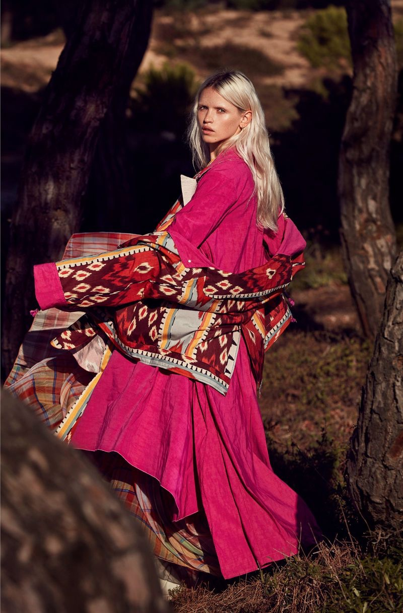 Anja Konstantinova Poses in Bold Outdoor Styles for Marie Claire Italy