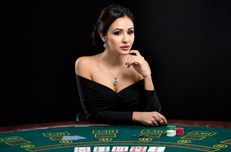Attractive Woman Poker Player