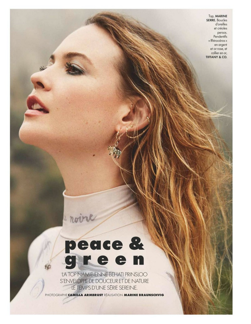 Behati Prinsloo Poses in Laid-Back Fashion for ELLE France