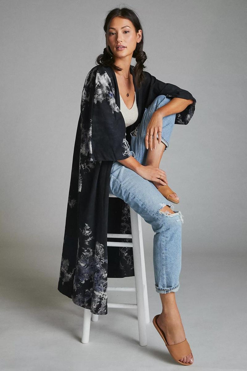 Bel Kazan Terry Tie-Dye Kimono $178