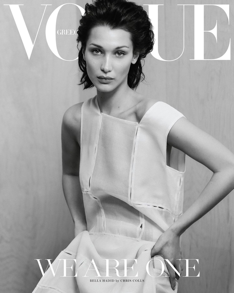 Bella Hadid Wears Pared Down Fashions for Vogue Greece