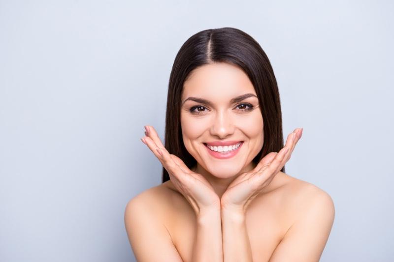 Brunette Woman Smiling Beauty