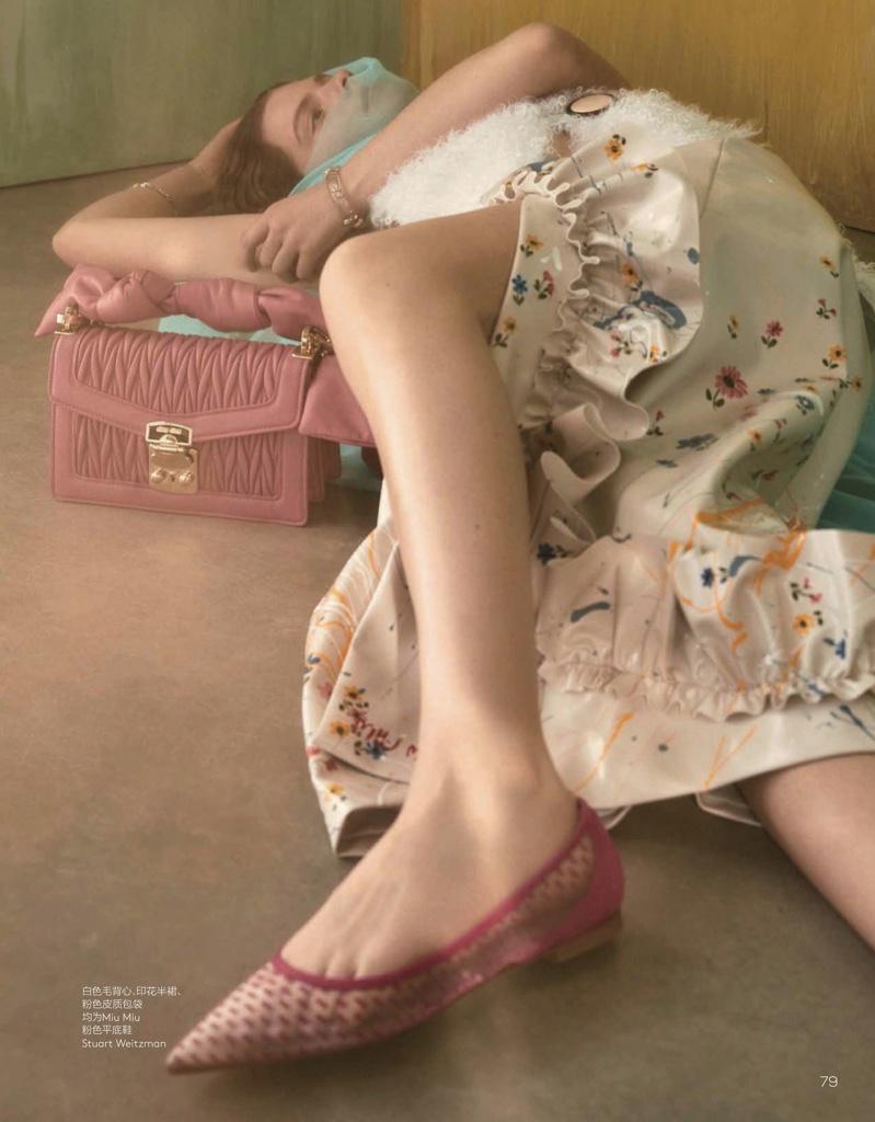Carolina Burgin Models Romantic Designs for Vogue China