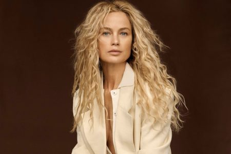 Carolyn Murphy Models Suiting Pieces in PORTER Edit