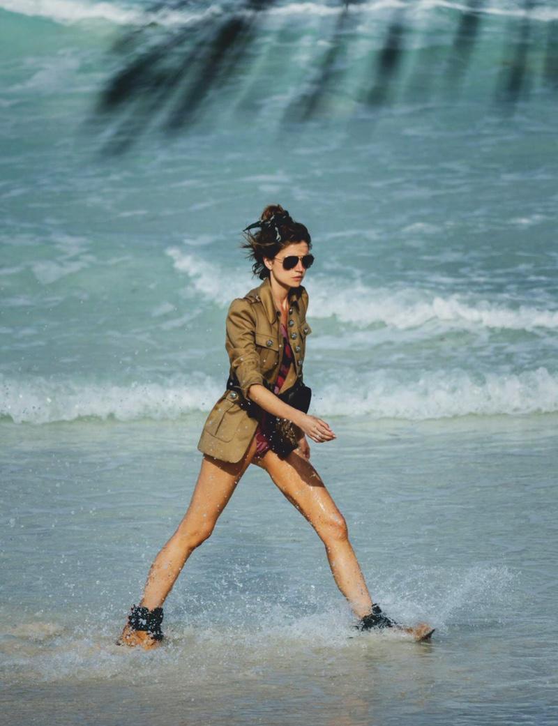 Cato Van Ee Models Casual Beach Looks for ELLE Spain