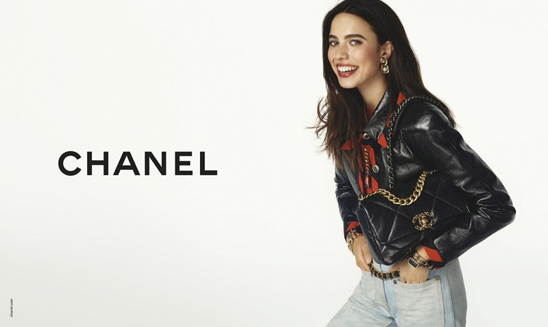All smiles, Margaret Qualley fronts Chanel handbags spring-summer 2020 campaign
