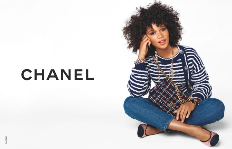 Taylor Russell appears in Chanel handbags spring-summer 2020 campaign