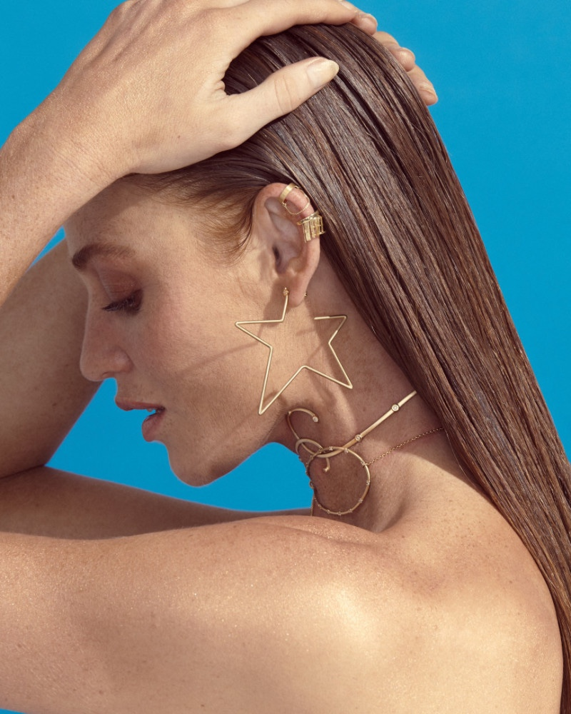 Model Cintia Dicker fronts Animale BLU jewelry campaign