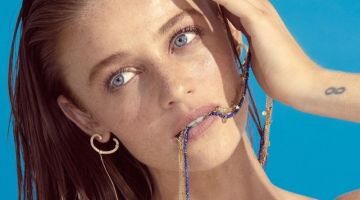 Cintia Dicker appears in Animale BLU jewelry campaign