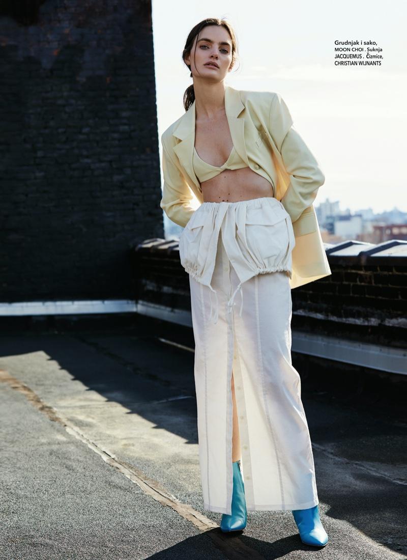Delfina Morbelli Models Statement Fashions for ELLE Croatia