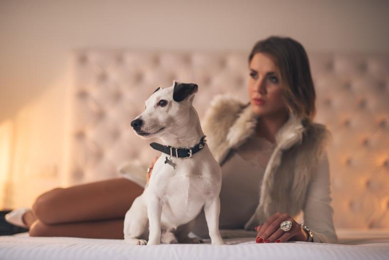 Dog Woman Collar Charm Stylish