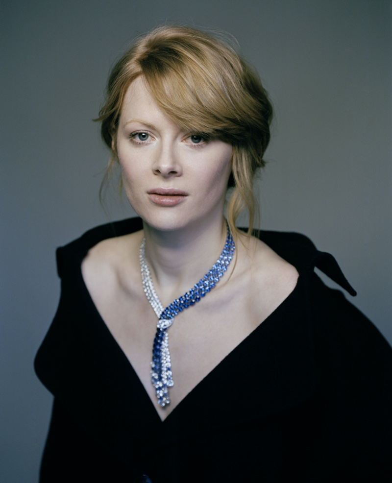 Actress Emily Beecham sparkles in Adler Joailliers. Photo: Fenton Bailey represented by Tonic Reps for The Fall
