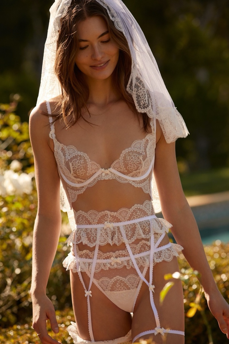 For Love & Lemons x Victoria's Secret gets into bridal lingerie for summer 2020 campaign