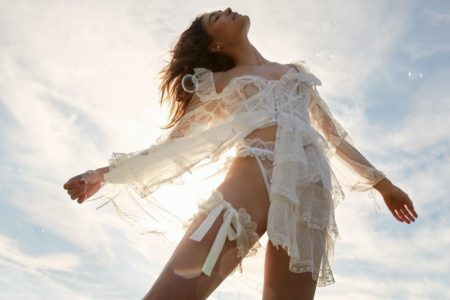Grace Elizabeth Enchants in FL&L x Victoria's Secret's Spring Designs