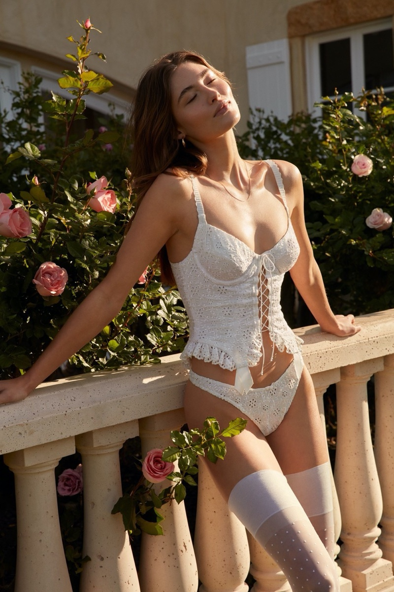 An image from For Love & Lemons x Victoria's Secret's summer 2020 campaign