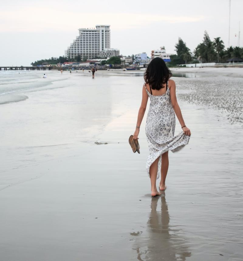 Girl in Maxi Dress Beach