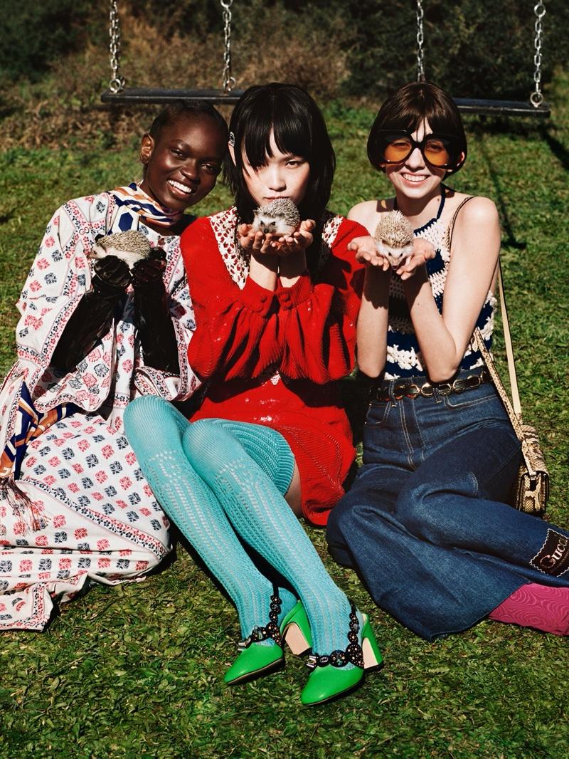 Animals take the spotlight in Gucci's pre-fall 2020 campaign.