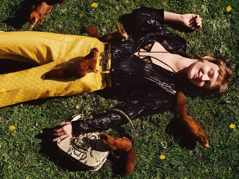 Alasdair McLellan photographs Gucci pre-fall 2020 campaign.