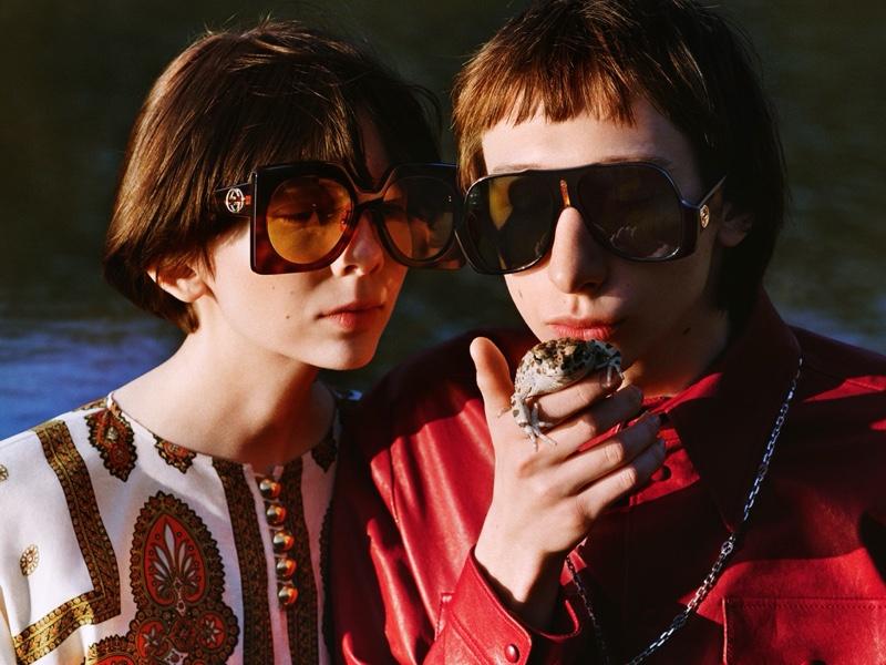 Sunglasses take the spotlight in Gucci pre-fall 2020 campaign.