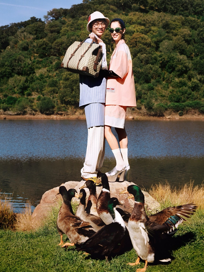 Gucci goes outdoors for its pre-fall 2020 campaign.
