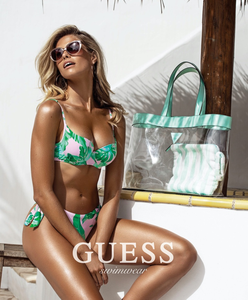 Natalie Roser fronts Guess swimwear 2020 campaign
