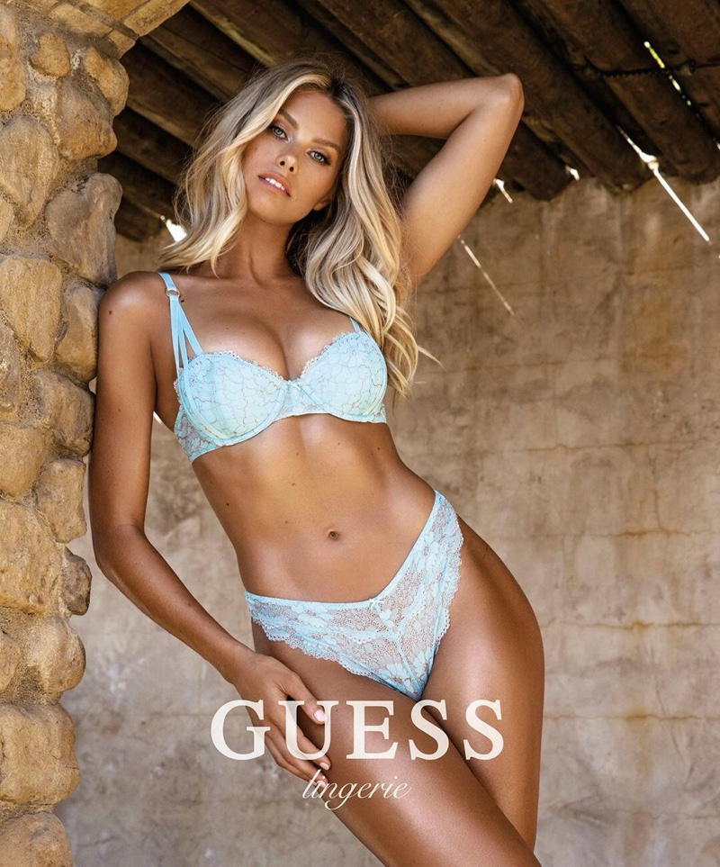 Guess unveils lingerie 2020 campaign starring Natalie Roser