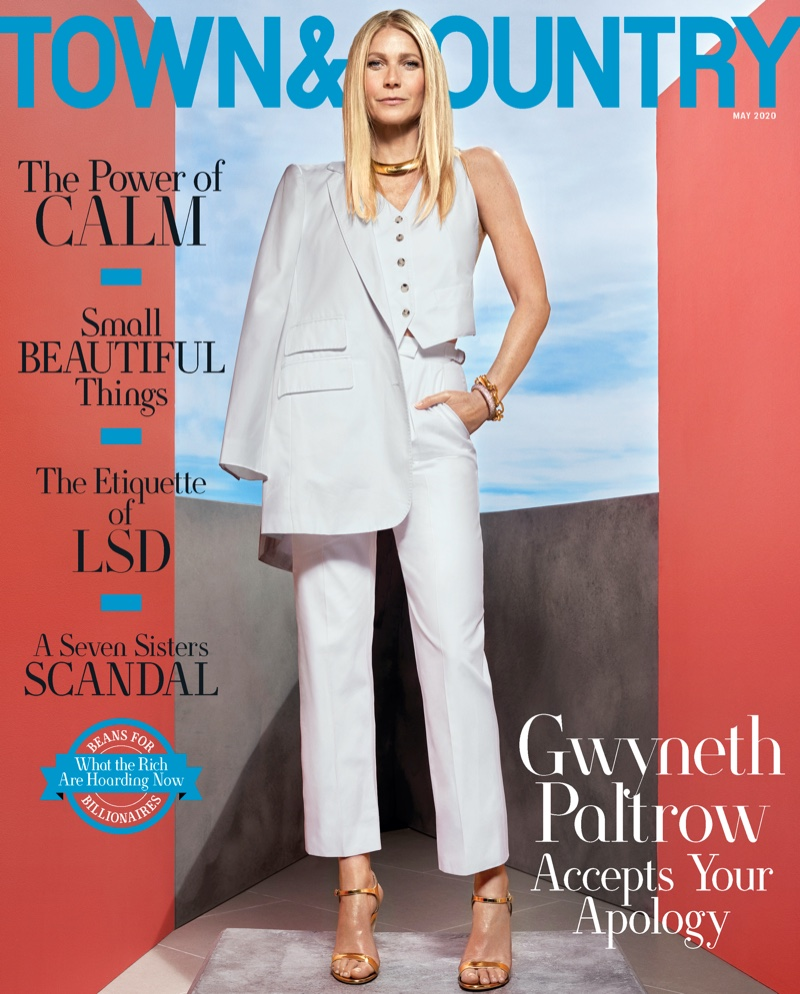 Gwyneth Paltrow on Town & Country May 2020 Cover