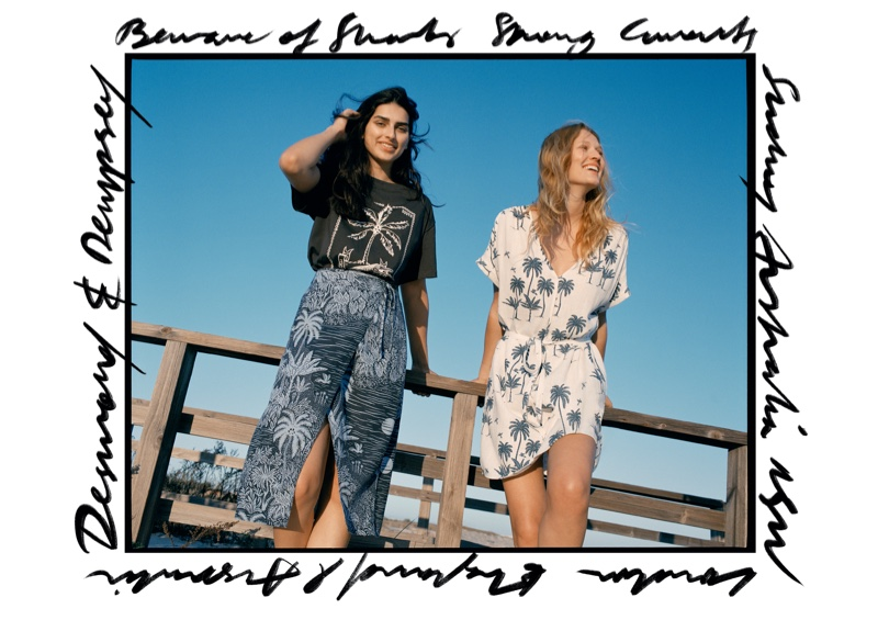 An image from H&M x Desmond & Dempsey's advertising campaign.
