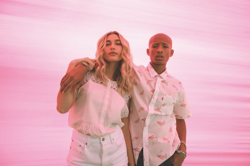 Hailey Baldwin and Jaden Smith link up for Levi's Festival 2020 campaign.