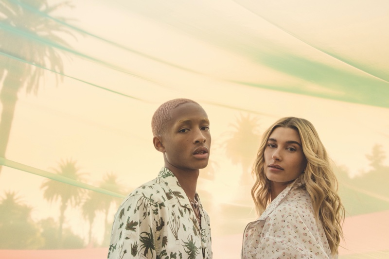 Jaden Smith and Hailey Baldwin pose for Levi's Festival 2020 campaign.