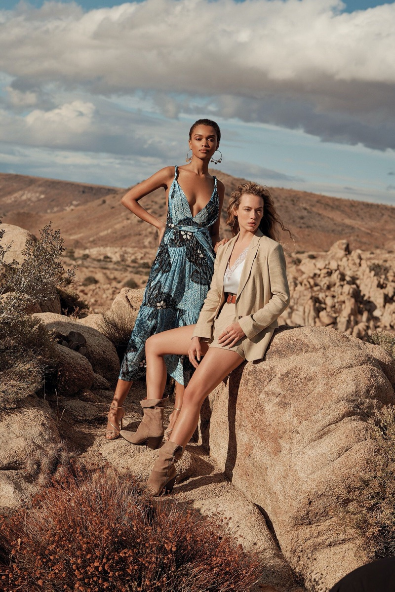 Samantha Archibald and Hannah Ferguson star in Intermix spring-summer 2020 campaign