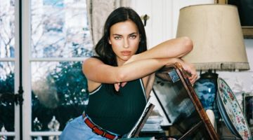 Irina Shayk Embraces Casual Indoor Looks for Interview