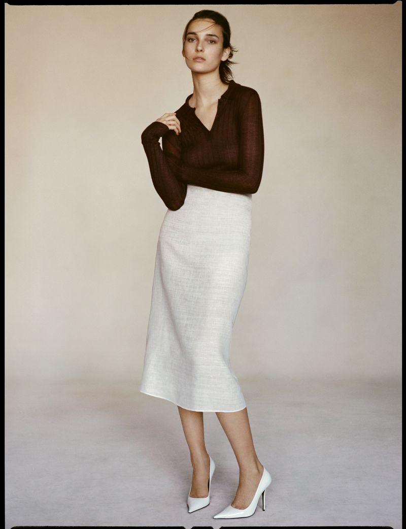 Julia Bergshoeff Poses in Elegant Knits for Vogue Poland