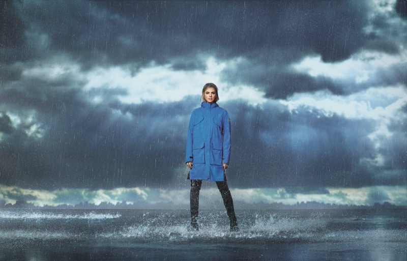 Posing amongst the clouds, Kate Upton fronts Canada Goose spring-summer 2020 campaign.