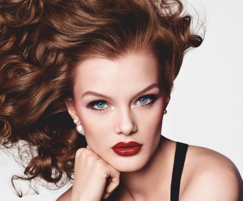 Kris Grikaite Tries On Glamorous Makeup for Vogue Japan