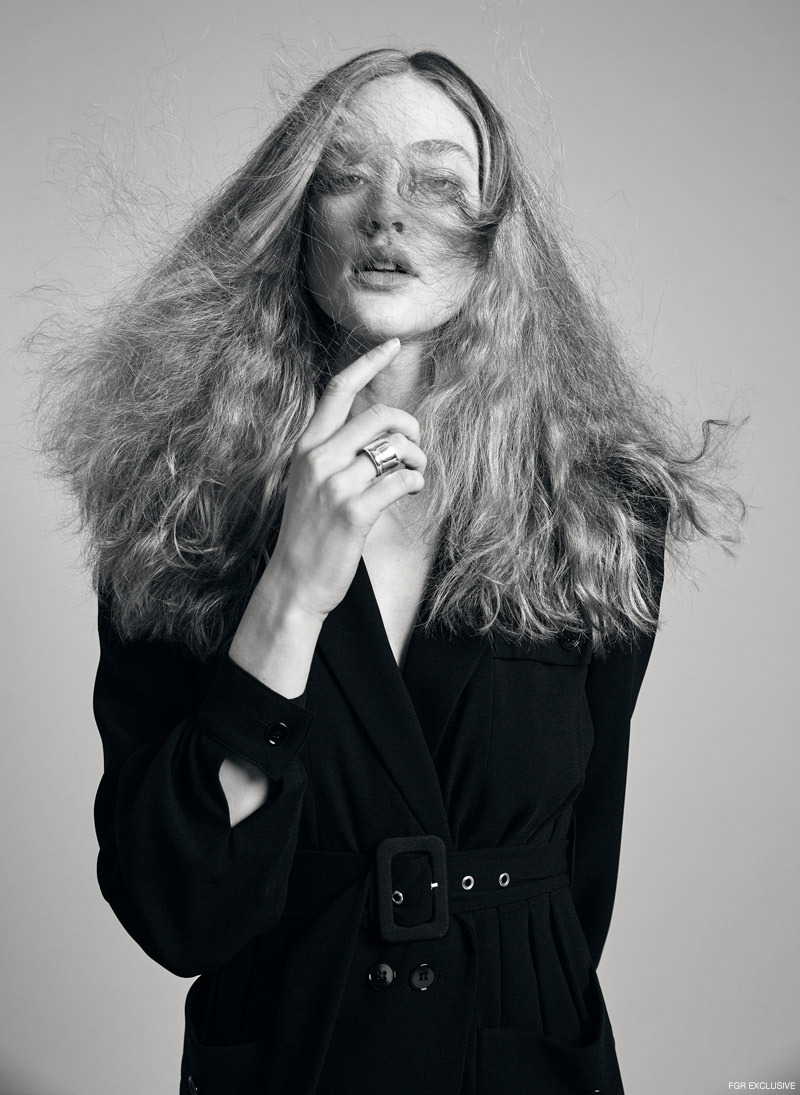 Ora Ring in Silver JENNY BIRD JEWELRY and Black Tailored Formal Rock-Style Dress THE KOOPLES. Photo: Adrianna Favero