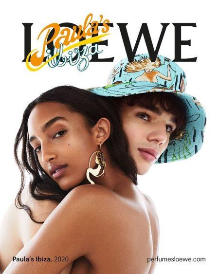 Mona Tougaard and Fernando Lindez star in Loewe Paula's Ibiza fragrance campaign.