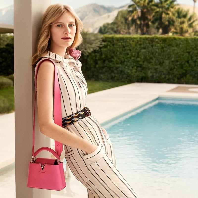 Julia Nobis stars in Louis Vuitton Capucines bag summer 2020 campaign