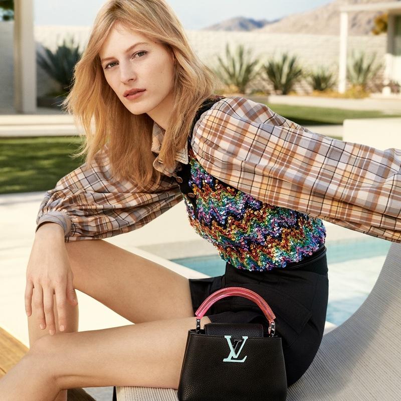 Craig McDean photographs Louis Vuitton Capucines handbag summer 2020 campaign