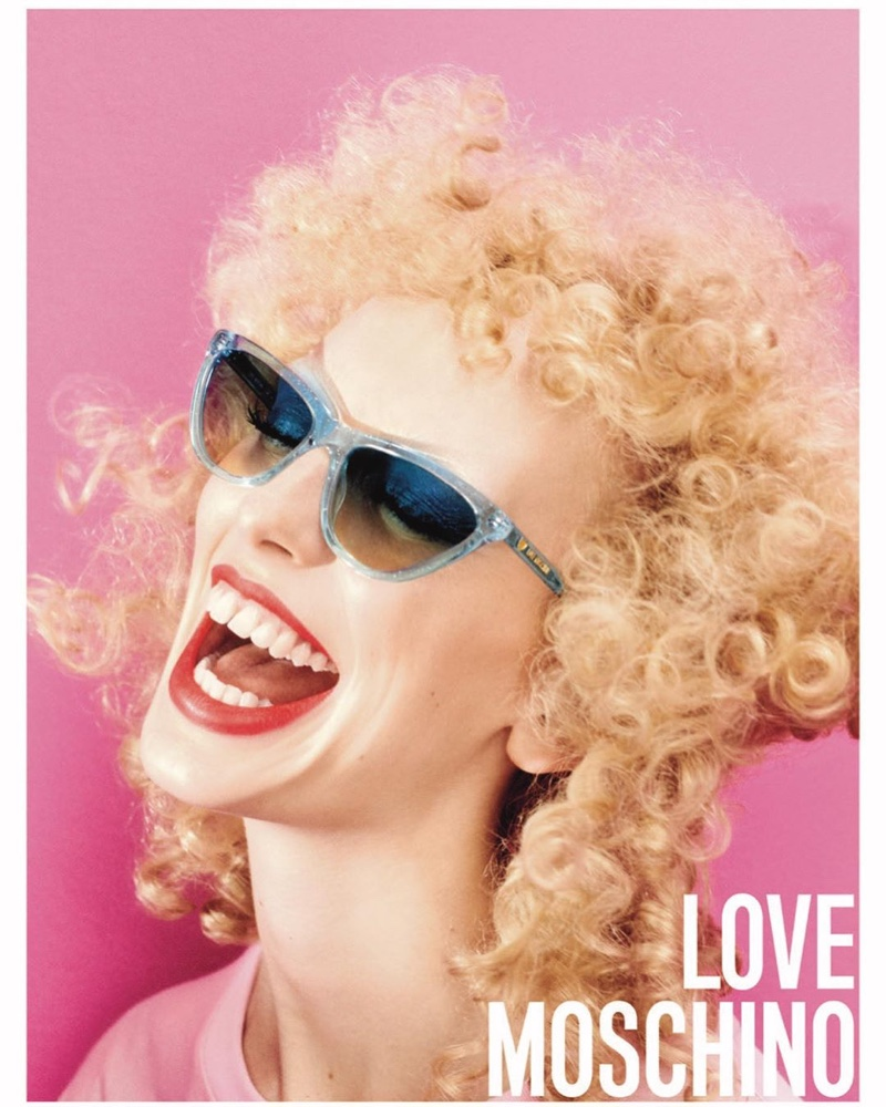Love Moschino highlights sunglasses in spring-summer 2020 campaign.