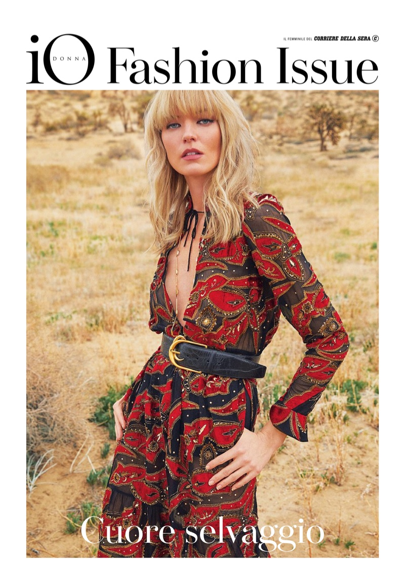 Martha Hunt Embraces Eclectic Fashion for Io Donna