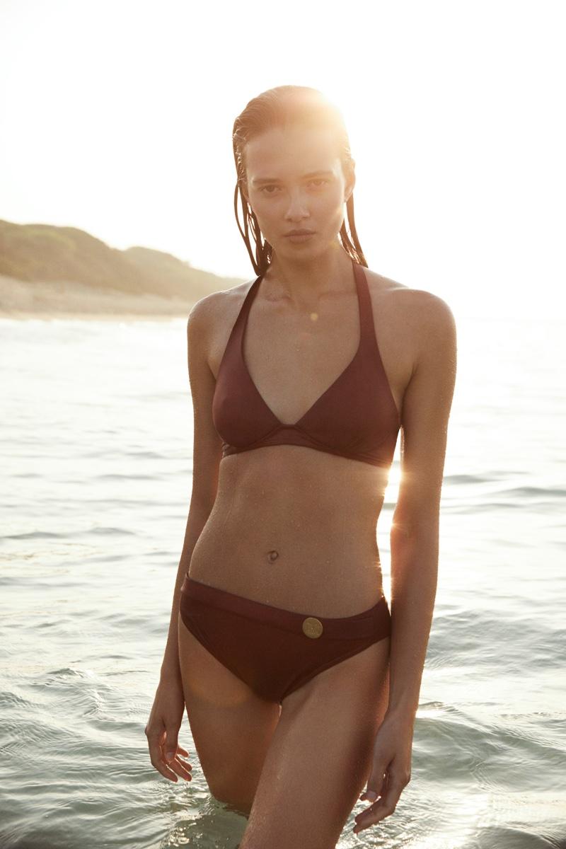 Alicja Tubilewicz fronts Max Mara Leisure Beachwear spring-summer 2020 lookbook