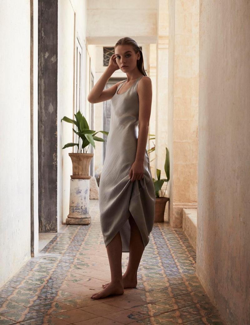 Max Mara Leisure features slip dress in spring-summer 2020 lookbook