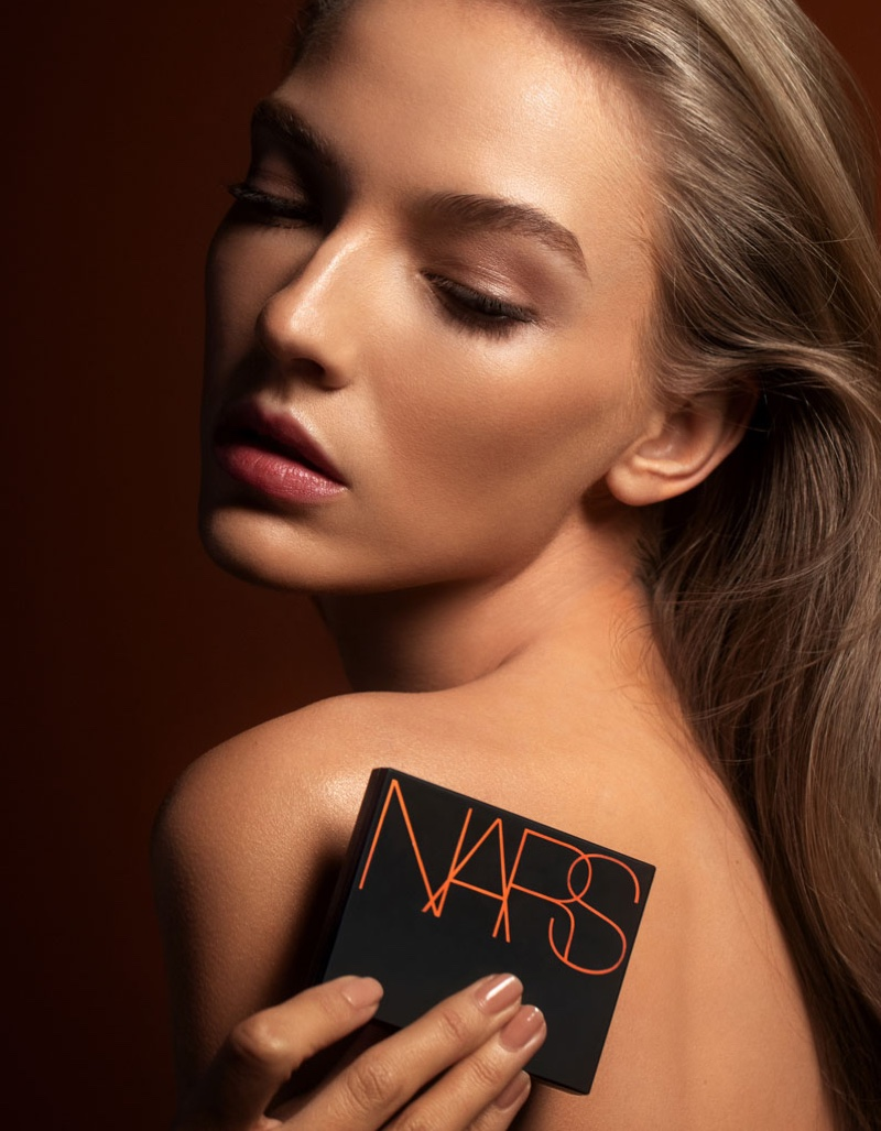 Allie Lewis stuns for NARS Cosmetics campaign. Photo: David Roemer